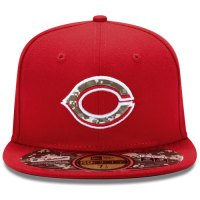 Cincinnati Reds Stars and Stripes Camouflage Cap 2012