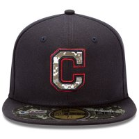 Cleveland Indians Stars and Stripes Camouflage Cap 2012