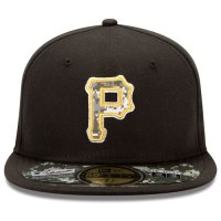 Pittsburgh Pirates Stars and Stripes Camouflage Cap 2012