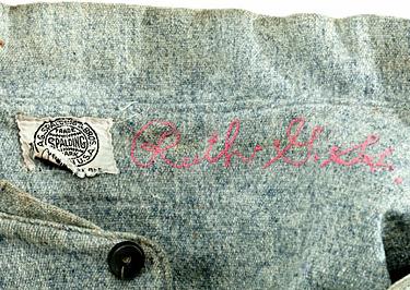 Babe Ruth 1920 Yankees Jersey Collar