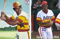 Comparing Houston Astros 1978 uniform with 2012 throwback